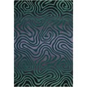 "Nourison Contour 5' x 7'6"" Smoke Teal Rectangle Rug - Item Number: CON24 SMKTL 5X76"