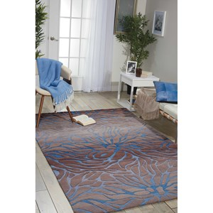 "Nourison Contour 8' x 10'6"" Ocean Sand Rectangle Rug"