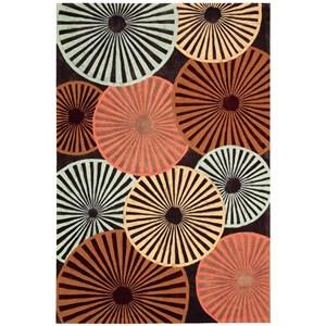 """Nourison Contour 7'3"""" x 9'3"""" Multicolor Rectangle Rug"""