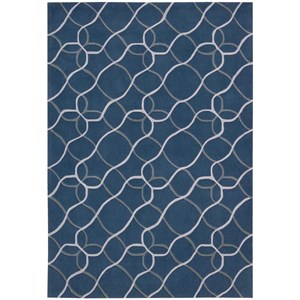 "Nourison Contour 3'6"" x 5'6"" Denim Rectangle Rug"