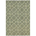 "Nourison Contour 5' x 7'6"" Sage Rectangle Rug - Item Number: CON41 SAG 5X76"