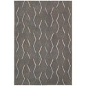 "Nourison Contour 3'6"" x 5'6"" Charcoal Rectangle Rug - Item Number: CON43 CHA 36X56"