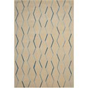 "Nourison Contour 5' x 7'6"" Ivory Rectangle Rug - Item Number: CON43 IV 5X76"