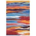 """Nourison Contour 3'6"""" x 5'6"""" Sunset Rectangle Rug - Item Number: CON78 SUNST 36X56"""