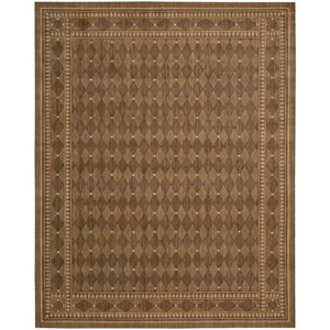 "Nourison Cosmopolitan 8'3"" x 11'3"" Cocoa Rectangle Rug"