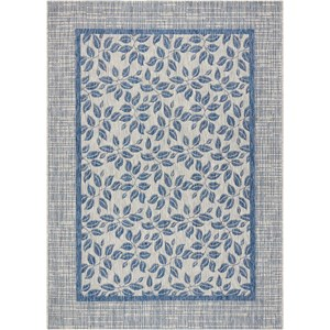 "Nourison Country Side 9'6"" X 13' Ivory Blue           Rug"