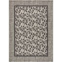 """Nourison Country Side 5'3"""" X 7'3"""" Ivory/Charcoal       Rug - Item Number: CTR01 IVCHA 53X73"""