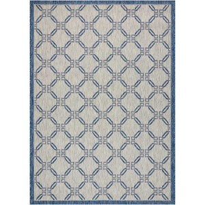 "Nourison Country Side 5'3"" X 7'3"" Ivory Blue           Rug"