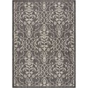 "Nourison Country Side 5'3"" X 7'3"" Charcoal             Rug - Item Number: CTR04 CHARC 53X73"