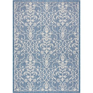 "Nourison Country Side 9'6"" X 13' Denim                Rug"