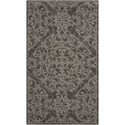 "Nourison Damask 2'3"" X 3'9"" Grey Rug - Item Number: DAS01 GREY 23X39"