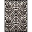 Nourison Damask 5' X 7' Black/White Rug - Item Number: DAS02 BKWHT 5X7