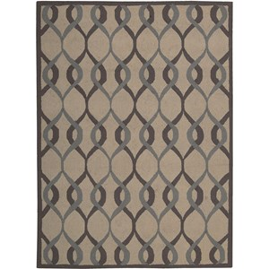 Nourison Decor 5' x 7' Taupe Area Rug