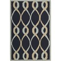 "Nourison Decor 2'6"" x 3'10"" Navy Area Rug - Item Number: 29956"