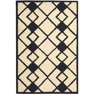 "Nourison Decor 2'6"" x 3'10"" Ivory Navy Area Rug"