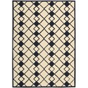 Nourison Decor 5' x 7' Ivory Navy Area Rug - Item Number: 29961