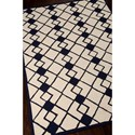Nourison Decor 5' x 7' Ivory Navy Area Rug
