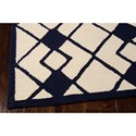 Nourison Decor 8' x 10' Ivory Navy Area Rug