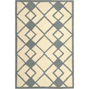 "Nourison Decor 2'6"" x 3'10"" Ivory Blue Area Rug - Item Number: 29963"