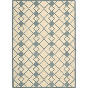 Nourison Decor 5' x 7' Ivory Blue Area Rug