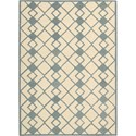 Nourison Decor 5' x 7' Ivory Blue Area Rug