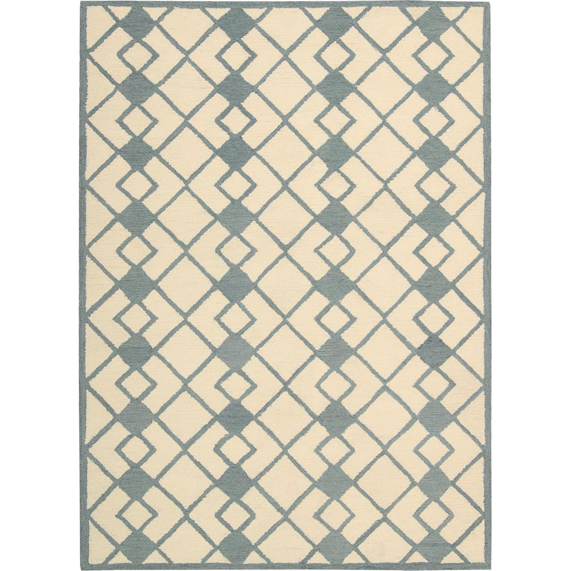 Nourison Decor 8' x 10' Ivory Blue Area Rug - Item Number: 29968