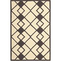"Nourison Decor 2'6"" x 3'10"" Ivory Grey Area Rug - Item Number: 29969"