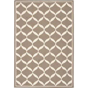 "Nourison Decor 2'6"" x 3'10"" Taupe White Area Rug"
