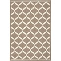 Nourison Decor 5' x 7' Taupe White Area Rug - Item Number: 32308