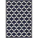 "Nourison Decor 2'6"" x 3'10"" Navy White Area Rug - Item Number: 32311"