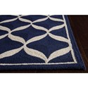 Nourison Decor 5' x 7' Navy White Area Rug