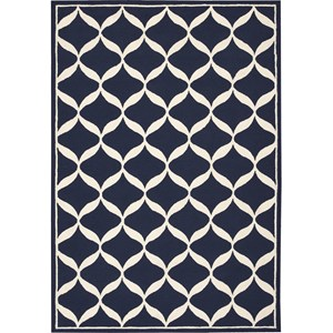 Nourison Decor 8' x 10' Navy White Area Rug