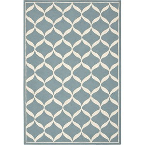 "Nourison Decor 2'6"" x 3'10"" Aqua White Area Rug"