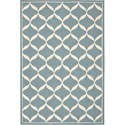 Nourison Decor 5' x 7' Aqua White Area Rug - Item Number: 32315