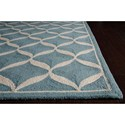Nourison Decor 8' x 10' Aqua White Area Rug