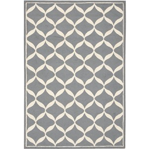"Nourison Decor 2'6"" x 3'10"" Slate White Area Rug"
