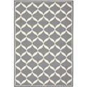 Nourison Decor 5' x 7' Slate White Area Rug - Item Number: 32318