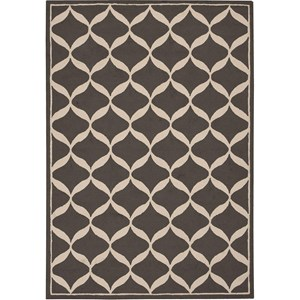 Nourison Decor 5' x 7' Grey White Area Rug