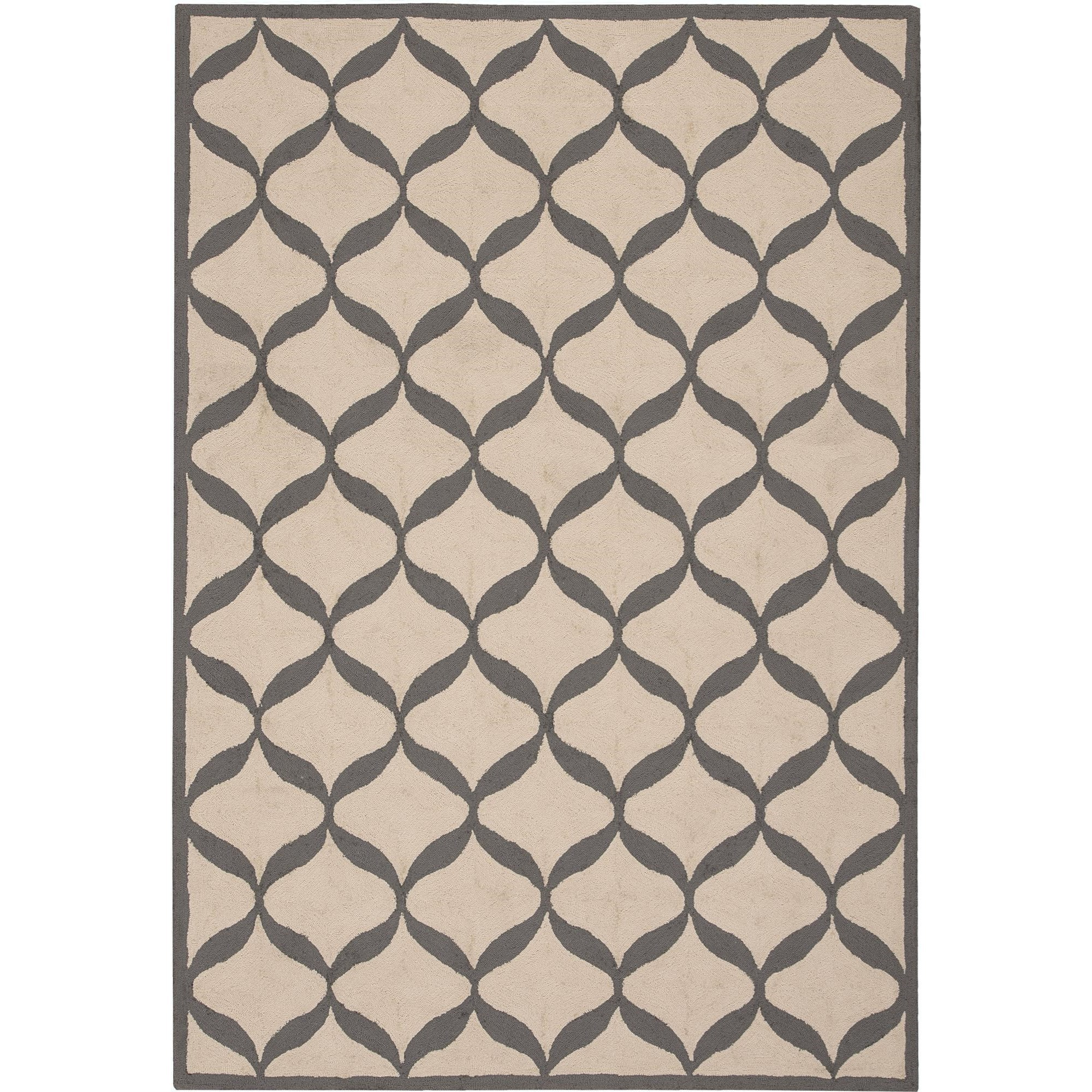 Nourison Decor 8' x 10' White/Light Grey Area Rug - Item Number: 32326