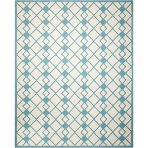Nourison Decor1 8' X 10' Ivory Blue Rug