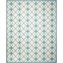 Nourison Decor1 8' X 10' Ivory Blue Rug - Item Number: DER03 IVBLU 8X10