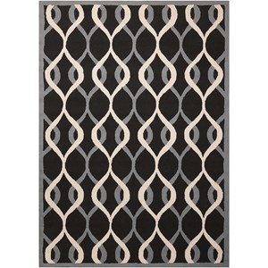 Nourison Decor1 5' X 7' Black Rug