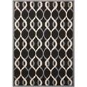 Nourison Decor1 8' X 10' Black Rug - Item Number: DER04 BLK 8X10
