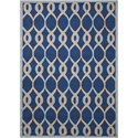 "Nourison Decor1 2'6"" X 3'10"" Navy Rug - Item Number: DER04 NAV 26X310"