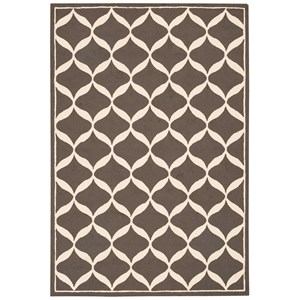 "Nourison Decor1 2'6"" X 3'10"" Grey/White Rug"