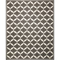 Nourison Decor1 8' X 10' Grey/White Rug - Item Number: DER06 GRYWT 8X10
