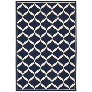 Nourison Decor1 8' X 10' Navy/White Rug