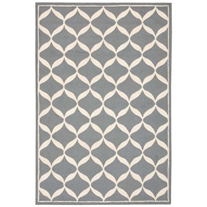 "Nourison Decor1 2'6"" X 3'10"" Slate/White Rug"
