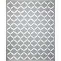 Nourison Decor1 8' X 10' Slate/White Rug - Item Number: DER06 SLTWT 8X10