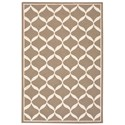 "Nourison Decor1 2'6"" X 3'10"" Taupe/White Rug - Item Number: DER06 TAUWT 26X310"